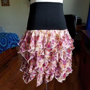 🌹3/25🌹Rachael & Chloe tier ruffle skirt M